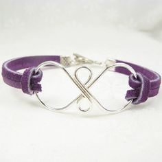 infinity suede bracelet, silver infinity symbol with suede bracelet