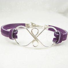 infinity suede bracelet, silver infinity symbol with suede bracelet