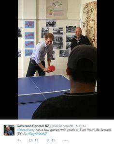 prince harry table tennis