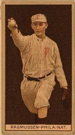 1912 Brown Backgrounds T207 #154 Art Rasmussen Front
