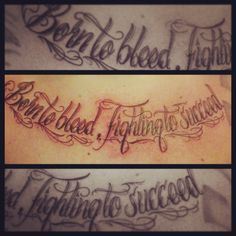 Chest lettering