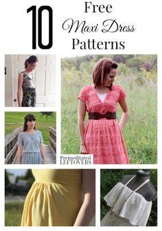 10 Free Maternity Patterns | Pants, Maxi dresses and Patterns