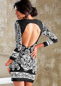 Open back knit dress...