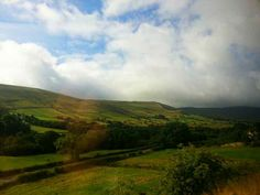 The Hope to Edale Road from a train