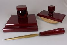 Antique Vintage Old Amber Bakelite Cherry inkwel Veined Dice Beads Faturan Block | eBay