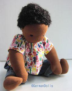 Waldorf Doll African American, by germandolls.