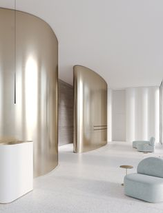 cvet32 Дом на цветном Gym Interior, Arch Interior, Interior Architecture, Interior Design, Public Space Design, Lobby Design, Space Interiors, Wall Cladding, Art Furniture