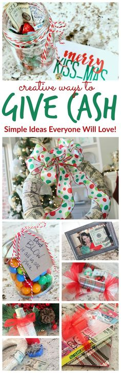 Creative Ways to Give Cash as a Gift! I LOVE these ideas! Fun and Memorable!