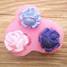 3 Flower Silicone Fondant Mold Cake Decorating Sugar Craft Mould