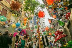 Festa Major de Gracia Festivals Around The World, Around The Worlds, Painting, Travel, Art, Thanks, Craft Art, Trips, Painting Art
