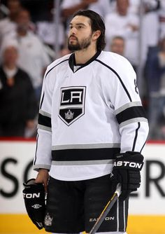 GLENDALE, AZ - MAY 22: Drew Doughty #8 of the Los Angeles Kings looks on before taking on the Phoenix Coyotes in Game Five of the Western Conference Final during the 2012 NHL Stanley Cup Playoffs at Jobing.com Arena on May 22, 2012 in Phoenix, Arizona. (Photo by Christian Petersen/Getty Images)