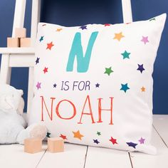 Our Is For Personalised Cushion can be personalised with an initial and name to make the perfect gift for someone special. Shop now!