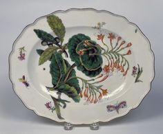 Chelsea Porcelain Factory, manufacturer English, ca. 1745-1784 -  Serving Dish, ca. 1754 -  Porcelain with glaze and enamels 4.1 x 32.1 x 25.7 cm (1 5/8 x 12 5/8 x 10 1/8 inches)