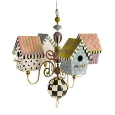 Most Popular Ideas MacKenzie Childs for Home Interior Design 10 Bird Houses Painted, Bird Houses Diy, Painted Birdhouses, Building Bird Houses, Bird Cages, Bird Feeders, Dog Feeder, Mackenzie Childs Furniture, Chandelier Design