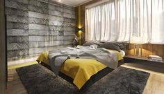 Amazing Home design is actually really great because it use a Amazing theme where it can make our Home looks great. Check the latest Amazing Home design by reading Modern Master Bedroom Color Ideas Suitable For Your Retreat) Bedroom Setup, Bedroom Colors, Home Decor Bedroom, Bedroom Ideas, Bedroom Yellow, Bedroom Interiors, Gray Bedroom, Bedroom Wall Texture, Accent Wall Bedroom