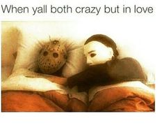 Crazy in love lol Michael Myers, Anti Social, Memes Humor, Funny Love, The Funny, Crazy Funny, Funny Happy, Lol, Funny Quotes
