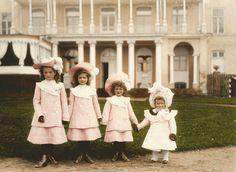 Olga, Tatiana, Maria, and Anastasia Nikolaevna in 1902
