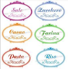 Etichette per barattoli dispensa