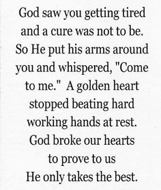 A GOLDEN HEART-a poem I read to my daddy as he passed away-a nurse angel gave it to us to read as the time drew near.?