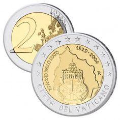 Vatikan 2 Euro-Gedenkmünze 2004 75 Jahre Vatikanstadt