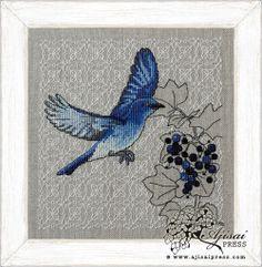 Mountain Bluebird and Blackcurrant via http://www.ajisaipress.com/