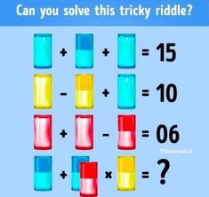 Puzzles in fundoes to make your brain sharp. Picture Puzzles Brain Teasers, Brain Teasers Riddles, Brain Teasers With Answers, Riddle Puzzles, Maths Puzzles, Mental Maths Worksheets, Mind Puzzles, Tricky Riddles, Improve Yourself