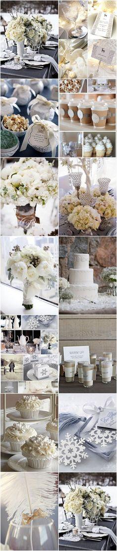 mariage d'hiver blanc / white winter wedding