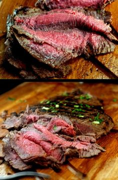 Spicy Asian Marinated Flank Steak and How to Make Flank Steak as Tender as Filet Mignon. | parsleysagesweet.com | #flanksteak #steak #Asian.