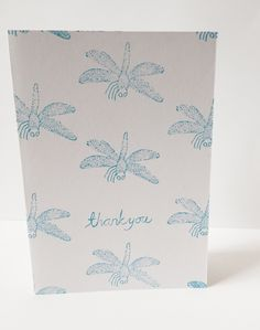 Dragonfly thank you card by maria nilsson