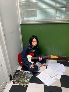 Art Reference Poses, Photo Reference, Chicas Punk Rock, Style Asiatique, Photographie Portrait Inspiration, Poses Photo, Image Fashion, Guitar Girl, Japanese Aesthetic