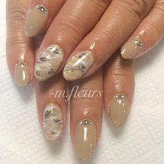 【大人マーブル✨】   #Marble#MarbleNail #大人ネイル#Nail #NailArt #NailDesign #NailSalon #箕面 #北摂 #m.fleurs#네일아트 #네일 #美甲 #Love ♥︎
