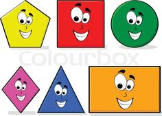 Stock vector of 'Illustration of shapes in different colors with a happy cartoon face, great for kids learning basic geometry' Preschool Learning Activities, Kindergarten Fun, Book Activities, Kids Learning, Happy Cartoon, Cartoon Faces, Kids Gadgets, Basic Geometry, Shapes For Kids