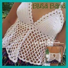Fabulous Crochet a Little Black Crochet Dress Ideas. Georgeous Crochet a Little Black Crochet Dress Ideas. Crochet Summer Tops, Crochet Halter Tops, Crochet Blouse, Crochet Bikini Pattern, Crochet Bikini Top, Crochet Patterns, Débardeurs Au Crochet, Diy Crafts Crochet, Black Crochet Dress
