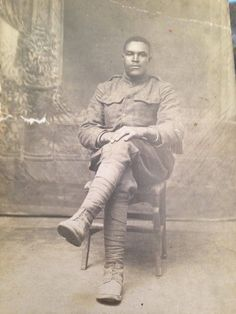Just found this picture of my great great grandpa from He looks pretty stone cold. Just found this picture of my great great grandpa from He looks pretty stone cold. World War One, First World, Vintage Photographs, Vintage Photos, Historia Universal, African American History, British History, Native American, African Diaspora