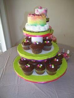 home made cupcake stand
