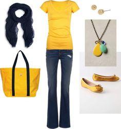 LOLO Moda: Yellow Casual Summer
