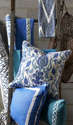 Lacefield Designs Harbor Pillow Collection  #pillow #interiordesign  www.lacefielddesigns.com