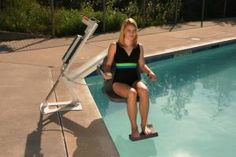 53 best wheelchair lifts elevators images on pinterest staircases stairs and house elevation for Swimming pool lifting out of ground