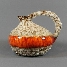 West German Jopeko Vase 404 17 Fat Lava Vintage Retro Mid Century Pottery  in Pottery, Porcelain & Glass, Date-Lined Ceramics, 1960s/ 1970s | eBay!