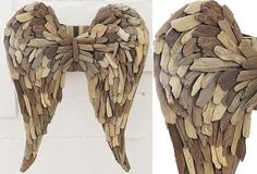 Driftwood Angel Wings | Angel Wings Wall Decor