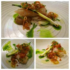 The French by Simon Rogan - sole fillet with onions, smoked scallops, parsley & leeks on Dudson 'Evolution'