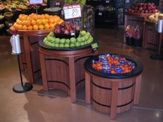 Stax Table Display Units are an innovative and eye-catching way to merchandise your produce department. They are built with swivle shelves for versatility. Designed to nest against one another to conserve space and provide a variety of presentation possibilities. www.marcocompany.com