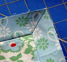 Start with a small mitered corner application to gain confidence in making excellent mitered corners every time! To start gather notions and fabric scraps to practice : My square measures 8 1/2 inc...