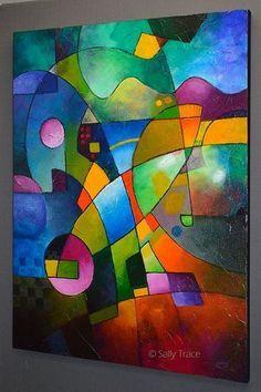Peinture abstraite peinture originale par SallyTraceFineArt sur Etsy #abstractart