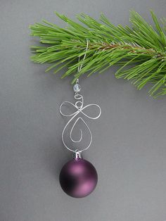 Well crafted Christmas Tree or FleurDeLis wire ornaments are