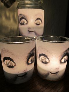 Creepy candle holder. I can barely look at these, but they are funny. No, I will not be making these.