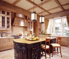 Kitchen decor, Kitchen designs, Kitchen decorating ideas - New Residence, Centre Island, New York