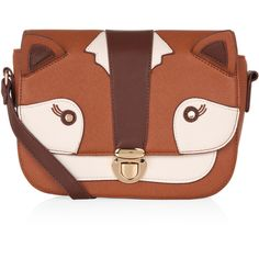 Accessorize Fox Across Body Bag (61 AUD) ❤ liked on Polyvore featuring bags, handbags, shoulder bags, accessories, purses, shoulder strap bag, brown cross body handbags, crossbody shoulder bags, brown crossbody и brown handbags