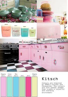 Kitsch: Kitsch 1950's Kitchen Mood Board