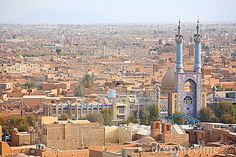 Sunset Over Ancient City Of Yazd, Iran Royalty Free Stock Images ...